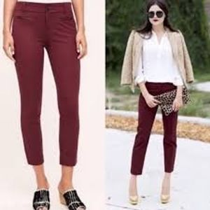Anthropologie The Essential Slim Trouser Size 8